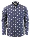 afield classic shirt stripes spots blue white mod