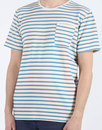 AFIELD Retro Mod Woven Terry Stripe Pocket T-shirt