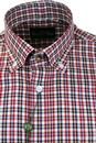 ALAN PAINE Holton 60s Mod Red/Navy Check BD Shirt