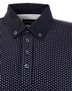 Newland ALAN PAINE 60s Mod Polka Dot Polo Shirt