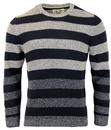 ALAN PAINE RETRO MOD KNIT STRIPE RIB JUMPER