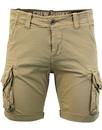 alpha industries retro combat crew shorts sand
