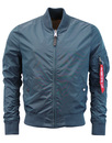 alpha industries ma-1 tt bomber bold blue mod