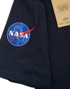 ALPHA INDUSTRIES Retro Indie NASA Patch Tee BLUE