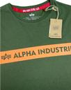 ALPHA INDUSTRIES Retro Chest Stripe Logo Indie Tee