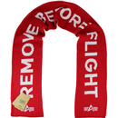 Alpha industries remove before flight scarf red