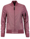 alpha industries ma1 tt womens bomber jacket pink