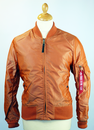 ALPHA INDUSTRIES SLIM MA1 BOMBER JACKET ORANGE MOD