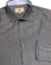 ANTIQUE ROGUE Men's Spread Collar Polka Dot Shirt