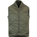 BARACUTA Men's Retro Quilted Gilet Jacket - Beech