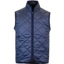 BARACUTA Men's Retro Quilted Gilet Jacket - Navy