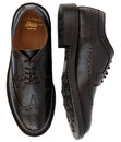BASS WEEJUNS Monogram Mod Long Wing Grain Brogues