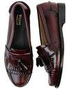 Elspeth Kiltie BASS WEEJUNS 60s Mod Tassel Loafers