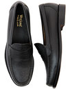 Logan BASS WEEJUNS Mod Grain Leather Penny Loafers