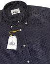 Dexter B D BAGGIES 60s Mod Ditsy Floral Shirt NAVY
