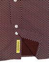 Dexter B D BAGGIES 60s Mod Ditsy Floral Shirt WINE