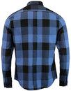BEN SHERMAN Retro Mod Oversize Gingham Shirt BLUE
