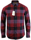 ben sherman retro 1960s mod block check shirt red