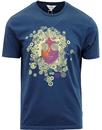 ben sherman single circle psychedelic tee blue