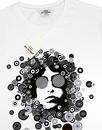 BEN SHERMAN Retro 60's Psychedelic Face Tee WHITE