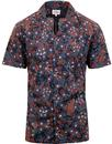 ben sherman peacock floral Hawaiian shirt black