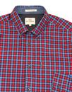BEN SHERMAN Mod 60s House Gingham Shirt in Cobalt