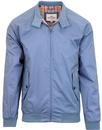 ben sherman mod 60s harrington jacket shadow blue