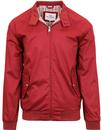 ben sherman mod 60s harrington jacket burgundy