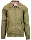 ben sherman mod 60s harrington jacket khaki