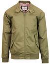 ben sherman mod 60s harrington jacket khaki