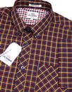 BEN SHERMAN House Check Button Down 60's Shirt Br