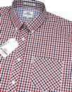 BEN SHERMAN House Check Button Down 60's Shirt DB