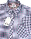 BEN SHERMAN House Check Button Down 60's Shirt Gr