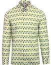 ben sherman hove archive 1990s print shirt green