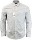BEN SHERMAN Retro Optic Checker Board Shirt