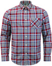 ben sherman gingham tartan check shirt summer sky