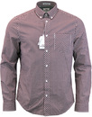 Ben Sherman gingham shirt oxblood