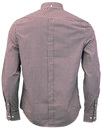 BEN SHERMAN Retro Mod 60s Gingham Shirt - Oxblood