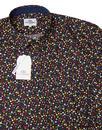 BEN SHERMAN Mod Micro Floral Button Under Shirt DB