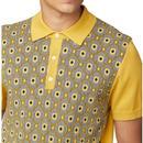 BEN SHERMAN Mod Knitted Jacquard Birdseye Polo (D)