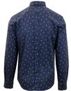 BEN SHERMAN Retro Peacock Feather Print Shirt