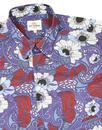 BEN SHERMAN Mens 1960s Mod Soul Power Floral Shirt