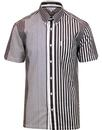 ben sherman riley 90s archive stripe shirt choc