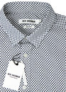 BEN SHERMAN Retro 1960s Mod Geo Square Print Shirt