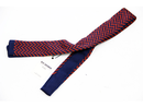 BEN SHERMAN RETRO MOD 60S KNITTED TIE ZIG ZAG RED
