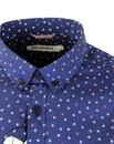 BEN SHERMAN Retro Mod Abstract Scatter Print Shirt