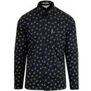 ben sherman archive shirt dark navy
