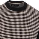 BEN SHERMAN 60s Mod Monochrome Geo Knit Jumper
