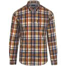 ben sherman keith moon checked shirt mustard