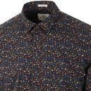 BEN SHERMAN Retro 60's Multi Floral Print Shirt M